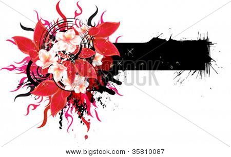 Abstract Floral banner for your text