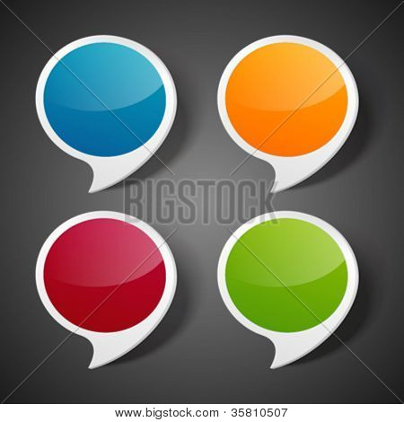 Speech bubbles set vector illustration Eps 10.