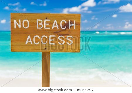 No Beach Access Sign, Horizontal