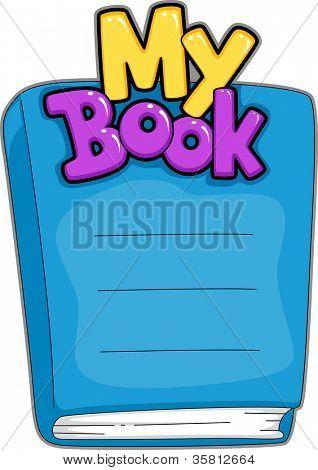 Ilustración de una placa de nombre libro personalizable