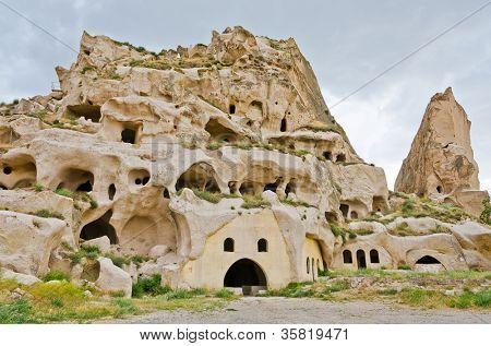 Uchisar Castle, Turkey, Cappadocia