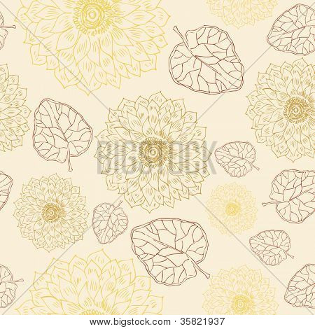 seamless floral retro pattern for wallpaper
