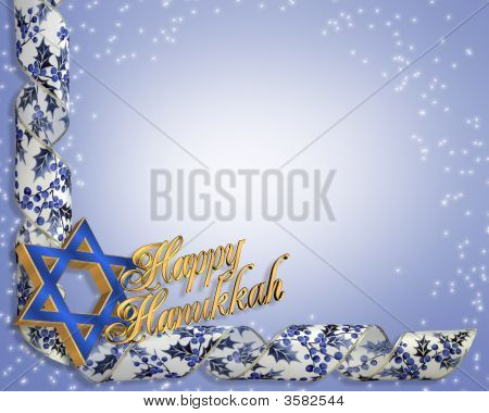 Hanukkah Corner Design Blue