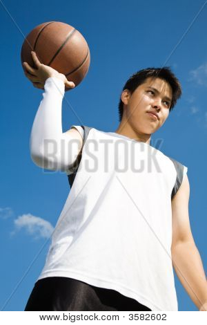 Asian Basketball Player