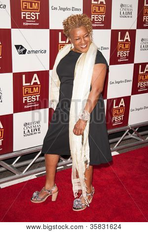 LOS ANGELES, CA - JUNE 20: CC H Pounder arrives at the Los Angeles Film Festival premiere of 'Middle of Nowhere' at Regal Cinemas L.A. LIVE 1 on June 20, 2012 in Los Angeles, California.