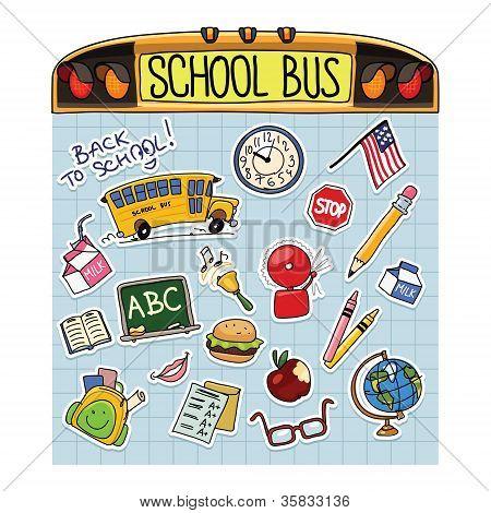 Back to School Vector Illustration Set
