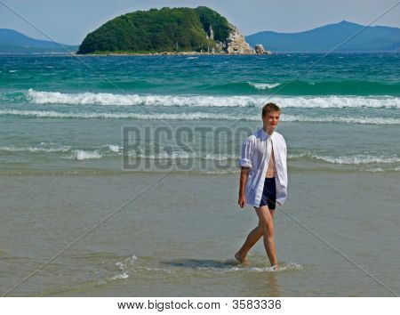 Boy And Sea
