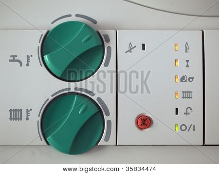 Regulator of the gas boiler for hot water and heating.