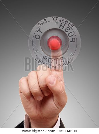 Red STOP button, Isolated