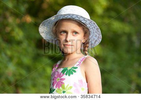 Charming Blue-eyed Girl