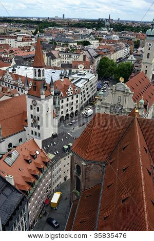 View From Alter Peter In Munich