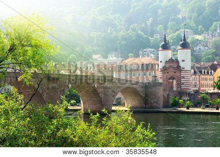 "The ""old Bridge"" In Heidelberg, Germany"