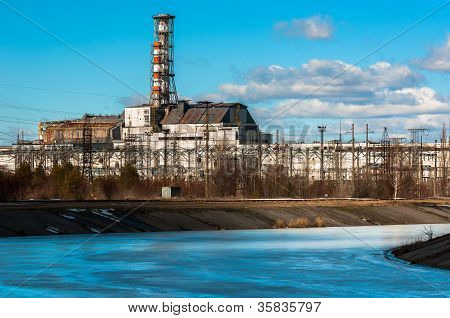 Industrial photo of Chernobyl in march 2012
