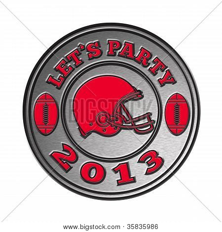 American Football Helmet Lets Party 2013