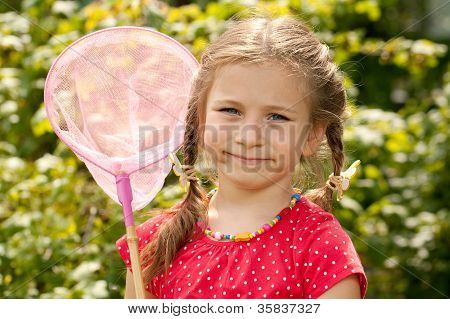 Little Girl With A Net