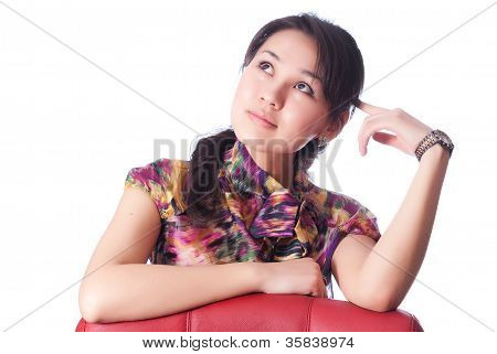 Contemplative Young Woman