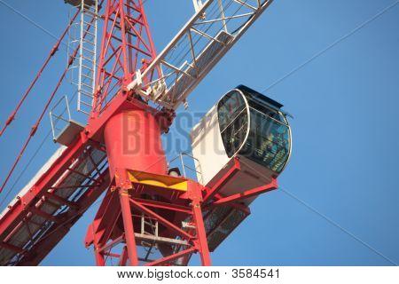 Red & White Crane