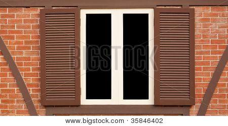 Single Wood Old Window