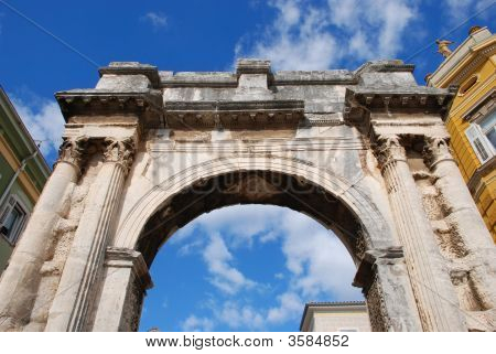 Arch In Pula, Croatia.