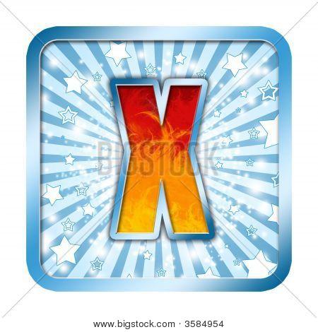 Alphabet Celebration Letter - X