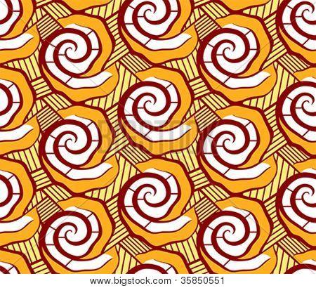 Malian seamless dress pattern in bright floral style