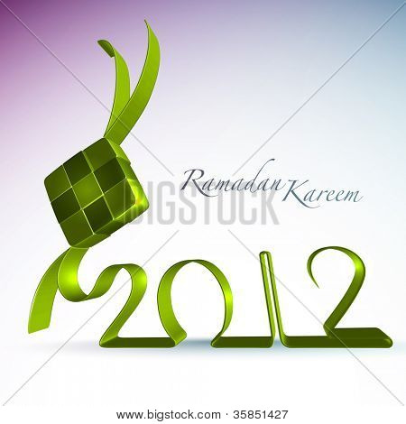 3D Muslim Ketupat 2012 Translation: Ramadan Kareen - May Generosity Bless You During The Holy Month