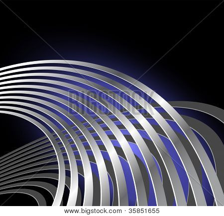 Abstract radio wave background with curved lines - musical vibration - sound waves