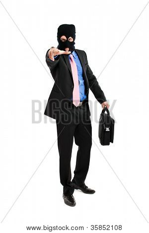 Thief disguised as a businessman or politician