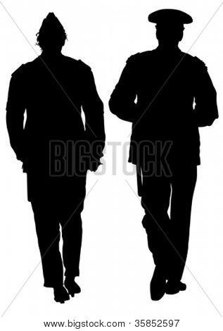 Imagem vetorial de polícia sob forma de proteção