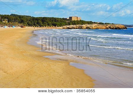A view of Arrabassada Beach in Tarragona, Spain