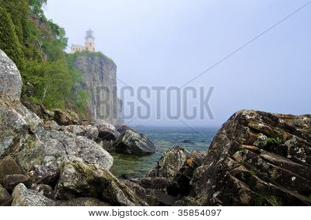 Split Rock Lighthouse, Fog