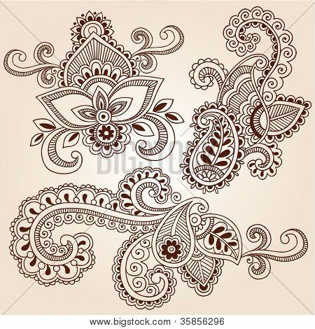 Flowers Mehndi Henna Tattoo Paisley Doodle Jpg Mandala Og Andre