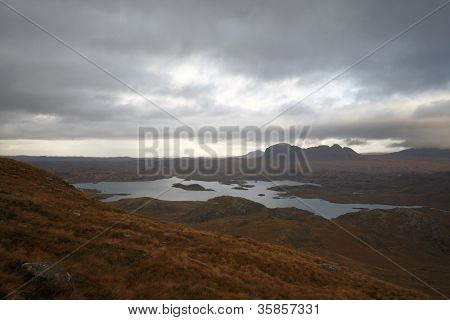 Surreal Landscape Around Stac Pollaidh