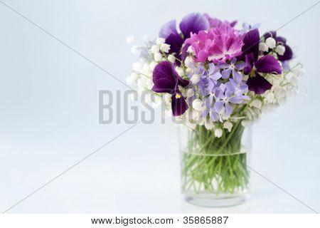 Spring Flowers In Vase