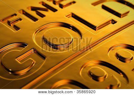 Gold Bar Close-up