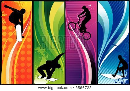 Extreme Sports Vector Composition