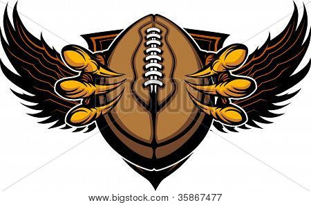 Eagle Football Talons And Claws Vector Illustration