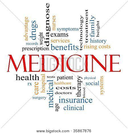 Medizin-Wort-Wolke-Konzept