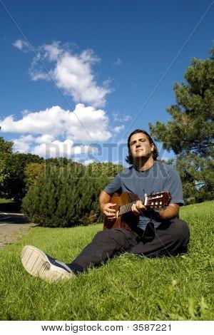 Musician In Park