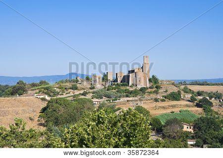 Panoramic view of Tuscania. Lazio. Italy.