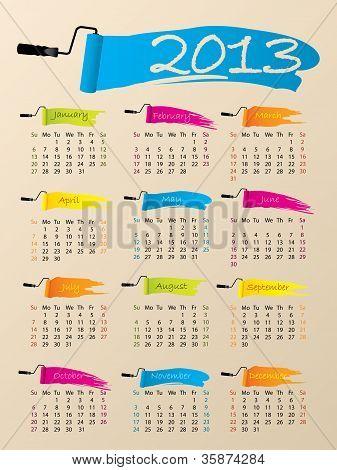 Painted 2013 Calendar Design