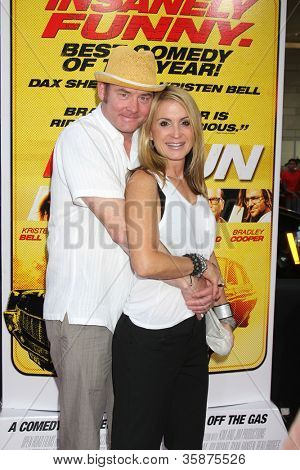 "LOS ANGELES - AUG 14:  David Koechner, Linda Koechner arrives at the ""Hit & Run"" Los Angeles Premiere at Regal Cinema on August 14, 2012 in Los Angeles, CA"
