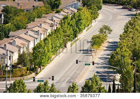 Residences Along Street
