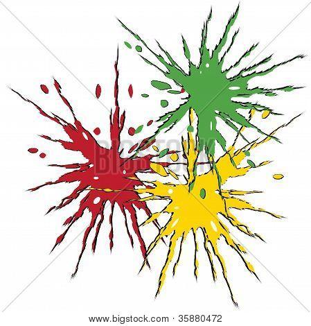 Ink blots, vector