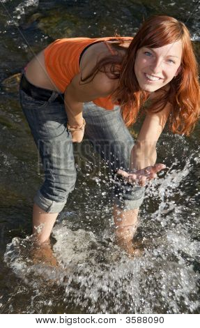 Girl In River