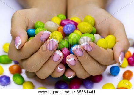 Candies In Hands