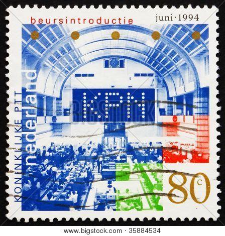 Postage stamp Netherlands 1994 Stock Exchange Floor