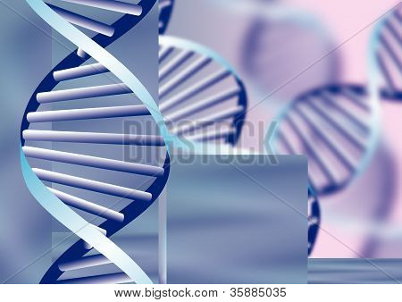 Dna Helix, Biochemical Abstract Background With Defocused Strands, Eps10