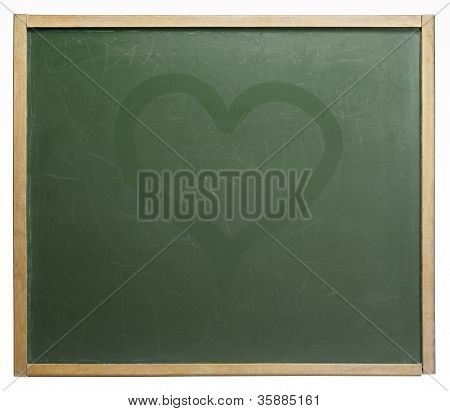 Blackboard And Heart Shape