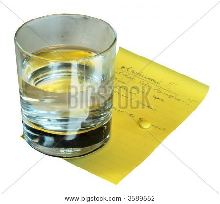 Glass With Water And Pill